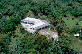 aerial view of Tobago villa for sale